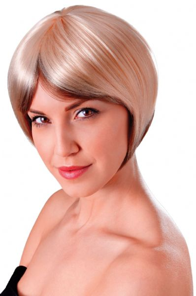 Ladies Flapper Blended Bob Wig 20s 30s Gangsters Moll Fancy Dress